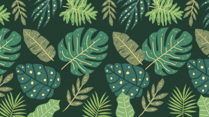 Green Leaves Pattern Zoom Virtual Background